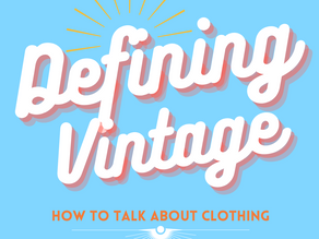 Defining What is - and isn't - Vintage