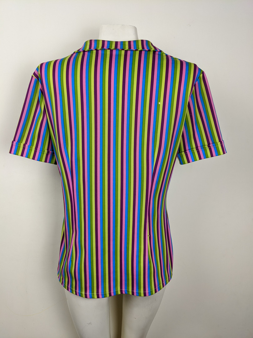 1970s Colorful Striped Top