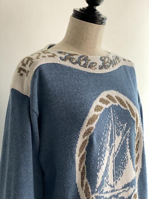 marine motif knit
