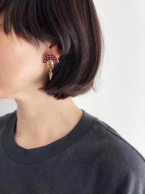 enamel pierced earrings