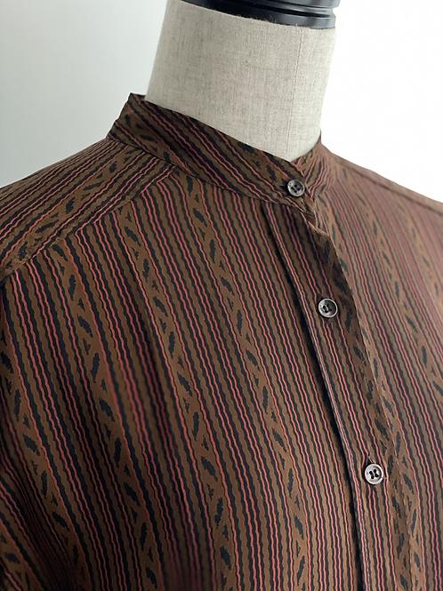 print silk blouse