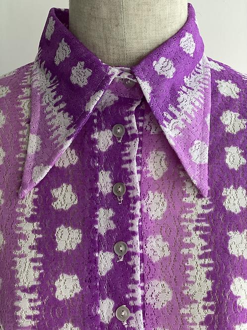 purple lace shirt