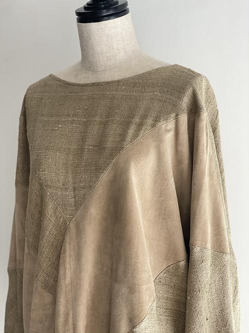 suede design pullover