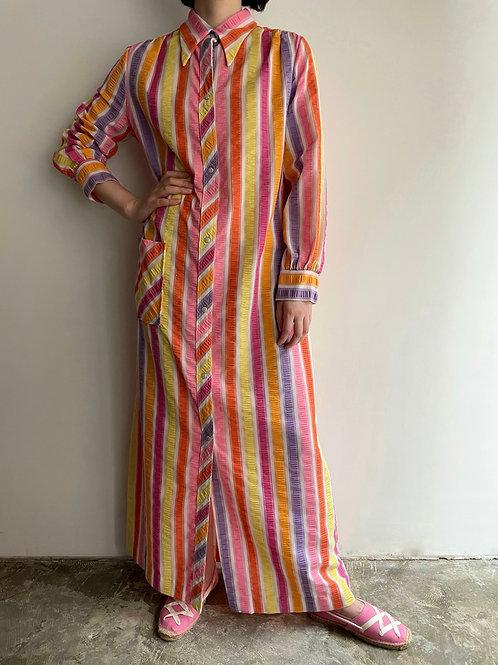 colorful seersucker dress