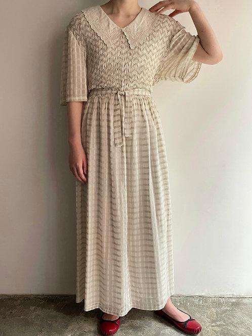 plaid smocking dress