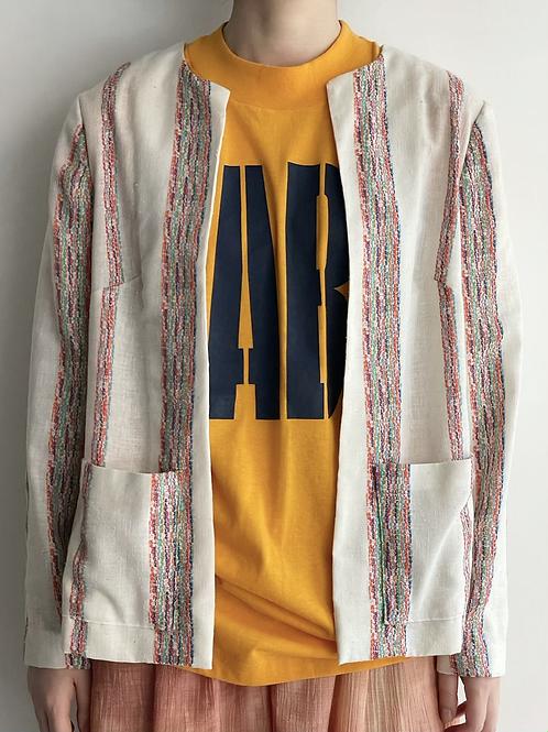 woven open jacket