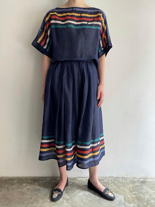 navy linen set