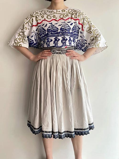 East European handmade apron skirt