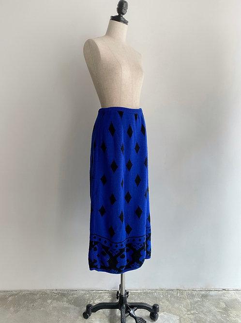 blue knitted skirt