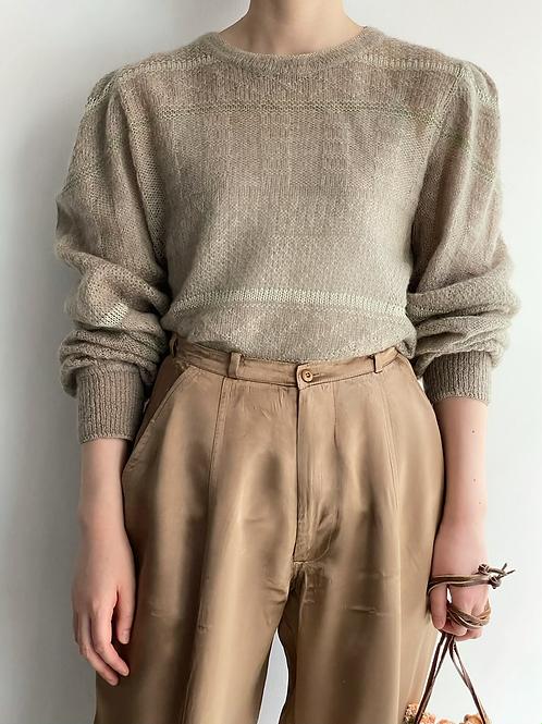 puff shoulder mohair knit