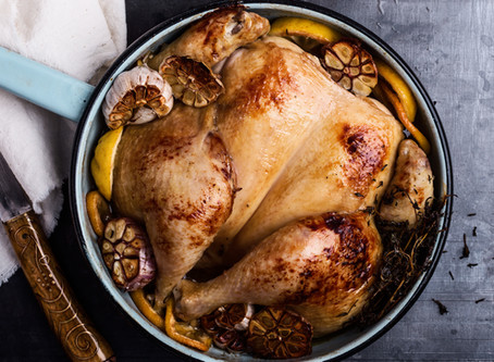 Herb Roasted Chicken with pan sauce