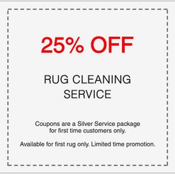 25% off professional rug cleaning