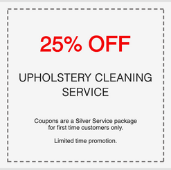 25% off professional upholstery cleaning