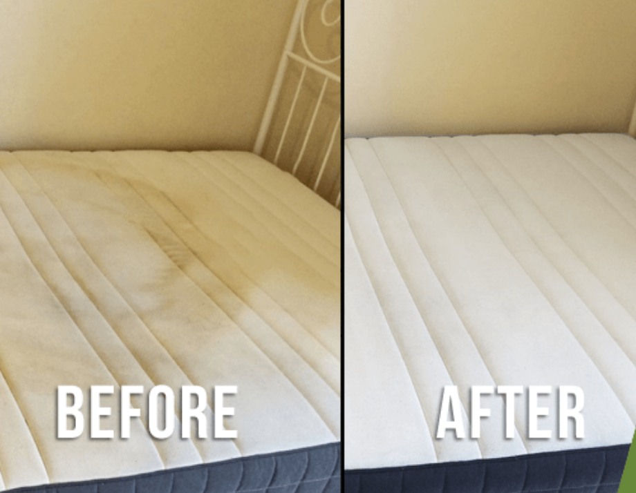 Professionally cleaned mattress