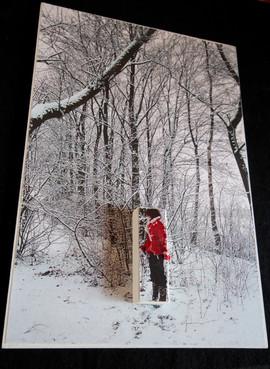 houten paneel 19,5x28,5cm.