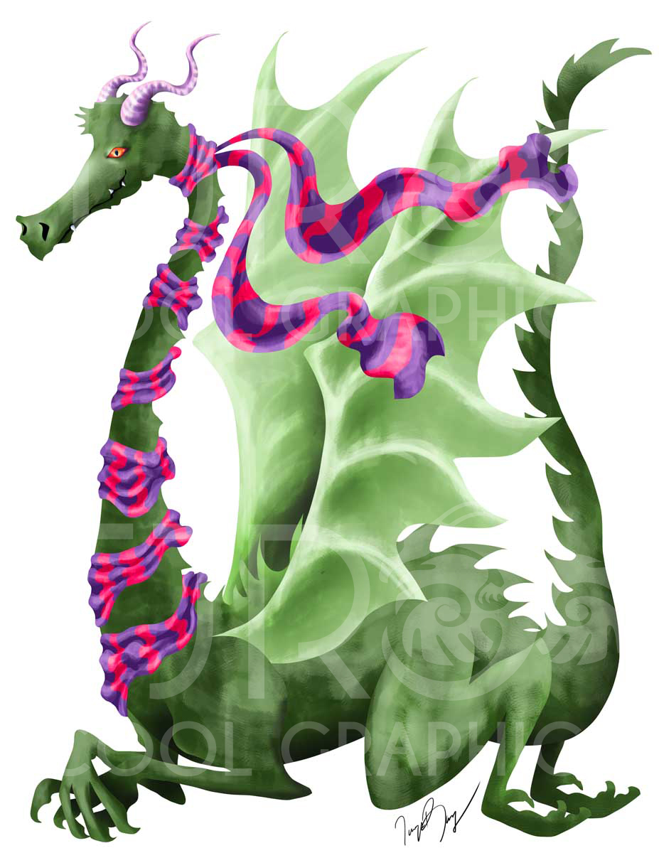 Dragon with Scarf