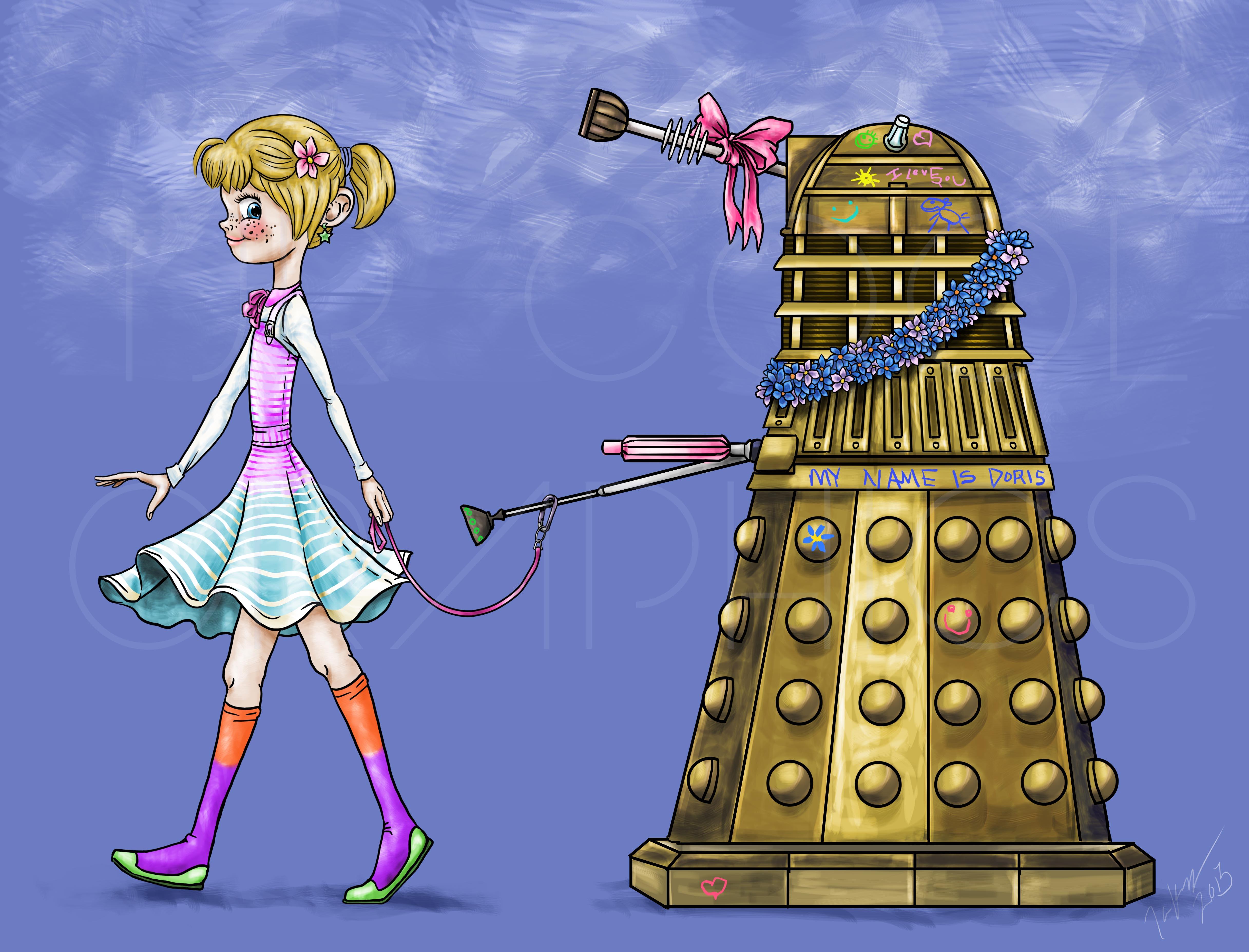Girl and Dalek