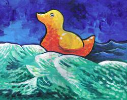 Ducky on Ocean