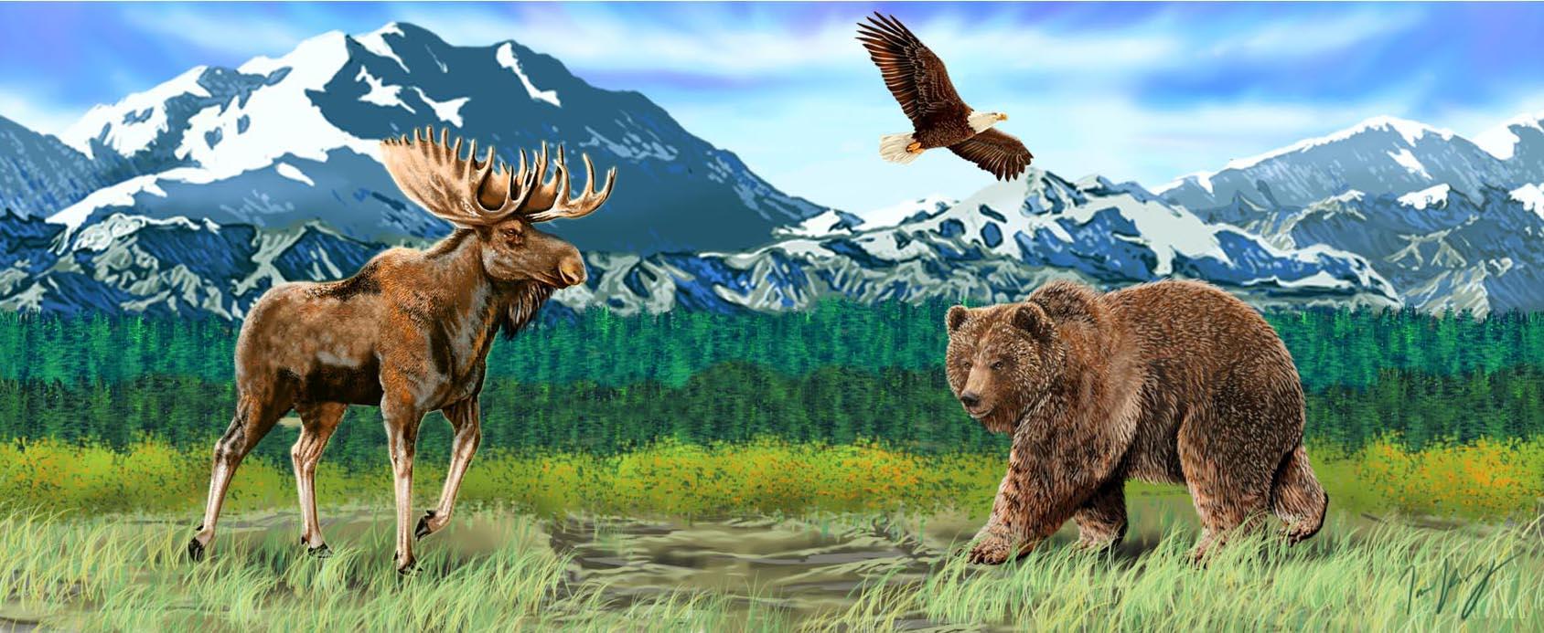 Proud Alaskan Animals