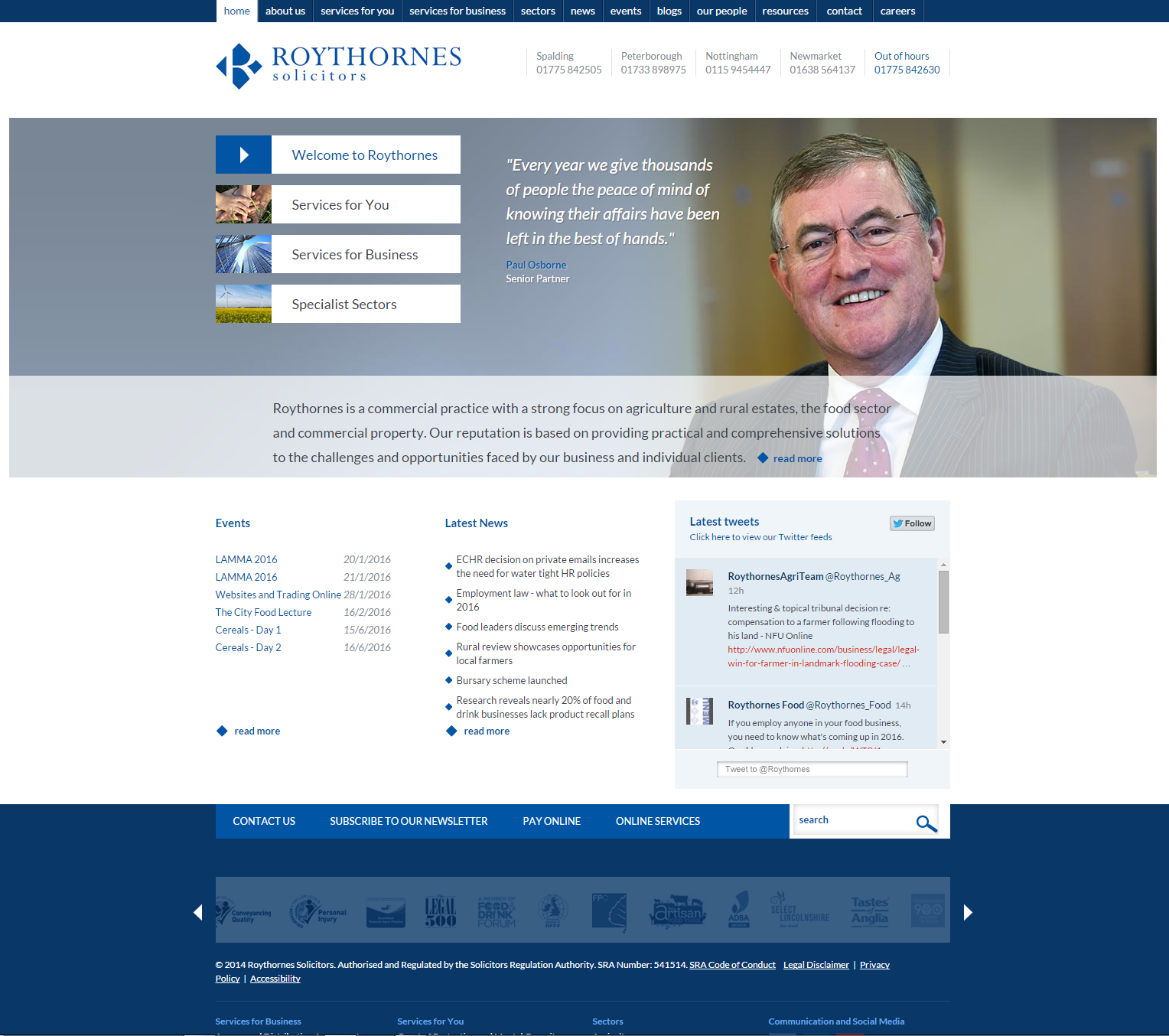 Roythornes Website