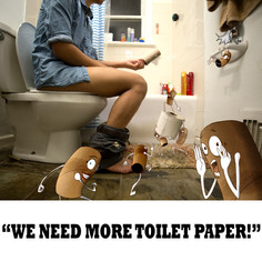 We need more toilet paper!