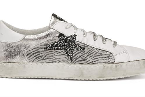 Sneaker stella glitter maculato grigio