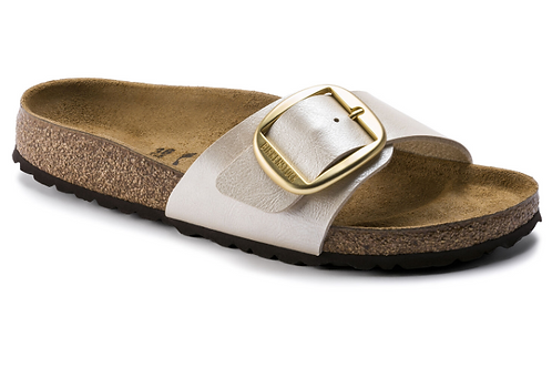BIRKENSTOCK MADRID BIG BUCKLE bianco perlato