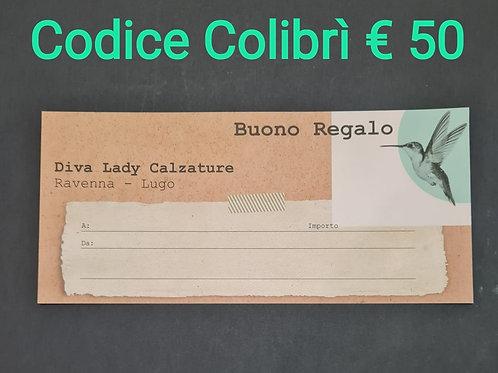 Buono regalo Colibrì €50