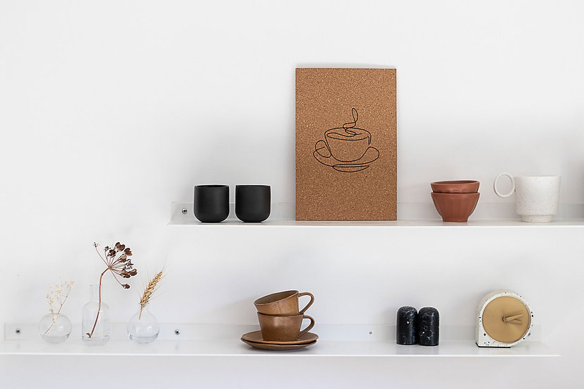 לוח שעם מודפס COFFEE