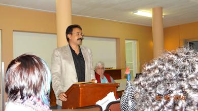 Speaking at Namibia