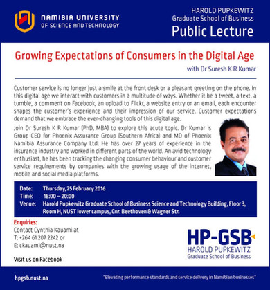 Public Lecture at Namibia