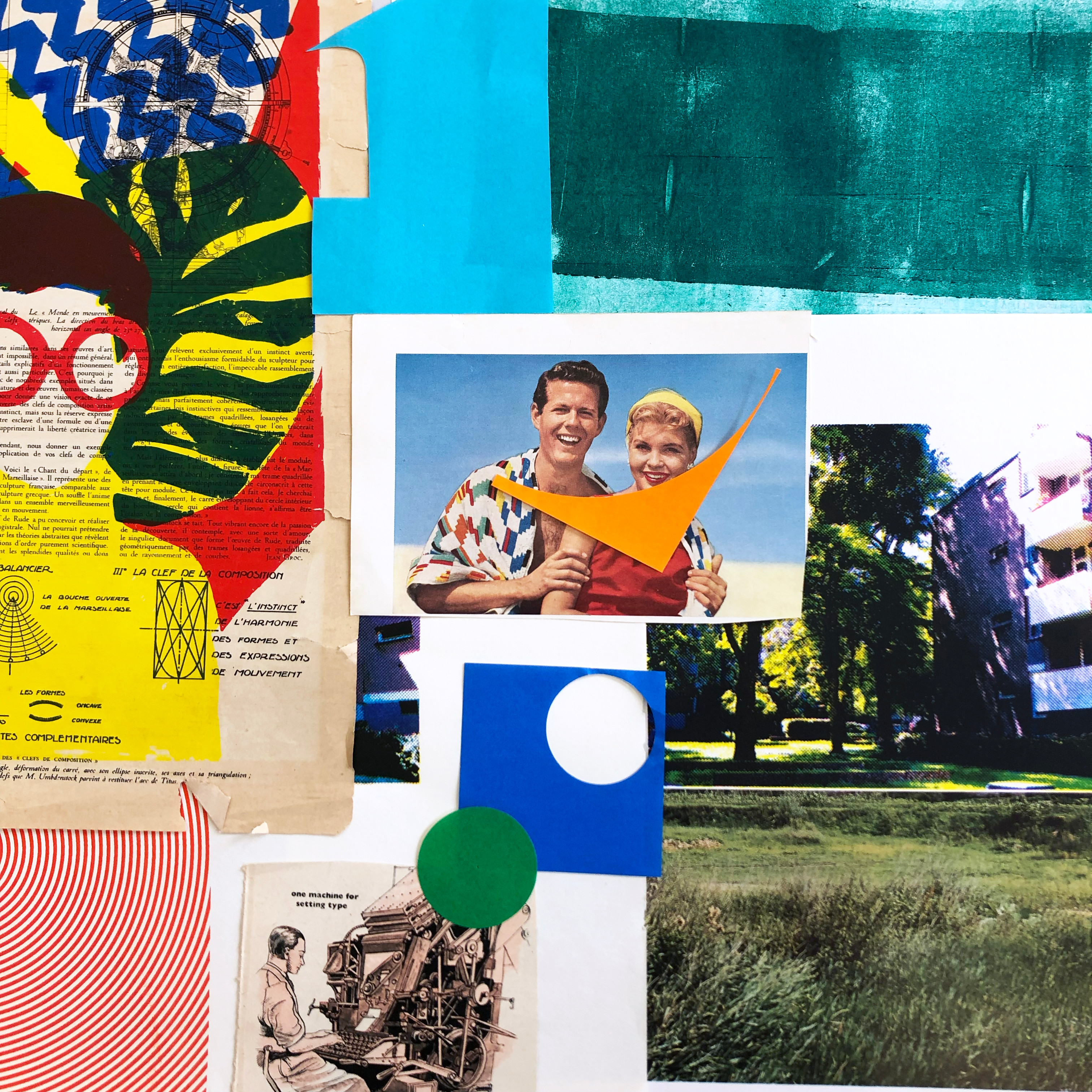 Screen Printing with Collage