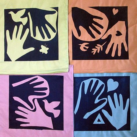 Hand printed cushion design