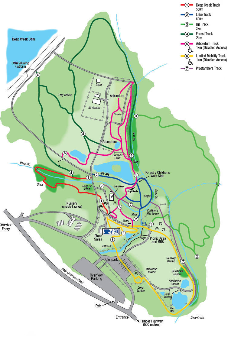 Eurobodalla Regional Botanic Gardens, South Coast NSW, Map