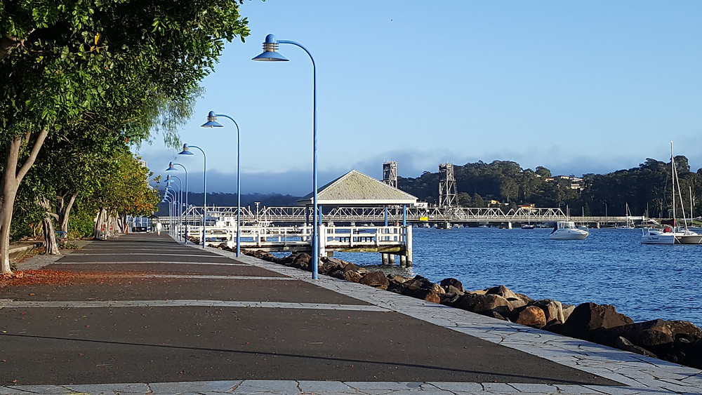Batemans Bay waterfront walk. Argyle Terrace is central accommodation in Batemans Bay