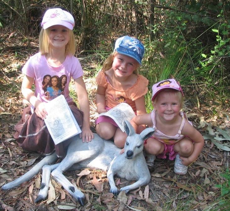 Childrens Walk, Eurobodalla Regional Botanic Gardens. Batemans Bay South Coast NSW