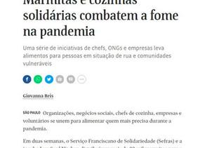 Folha de São Paulo divulga o Movimento Água no Feijão