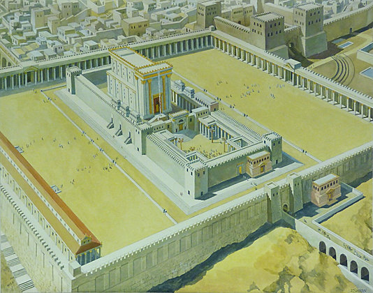 Birds Eye View of Herod's Temple canvas print