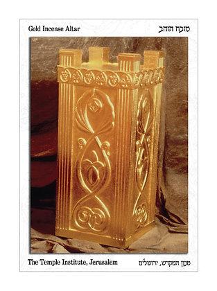 Golden Incense Altar Postcard