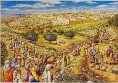 Jerusalem Pilgrimage Cardboard Poster
