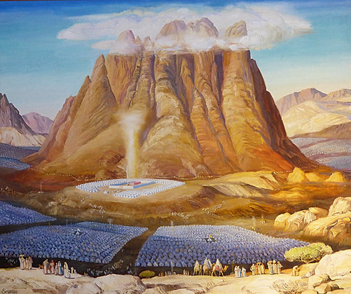 Encampment at Mount Sinai canvas print