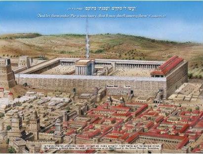 גלויה של הכותל המערבי בתקופה הרומית