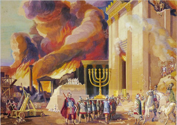 Destruction of the Second Temple canvas print