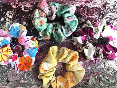 Floral Cotton Scrunchies