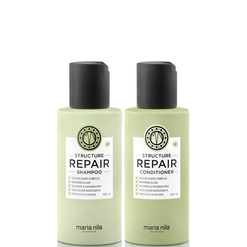 Maria Nila Structure repair shampoo & Conditioner Set 100ml bottles