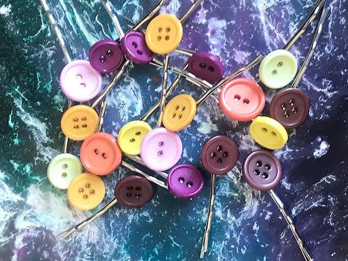Button hair pins (large)