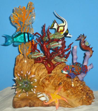 Coral Fantasy- d.crowley, 2013.  Borosil