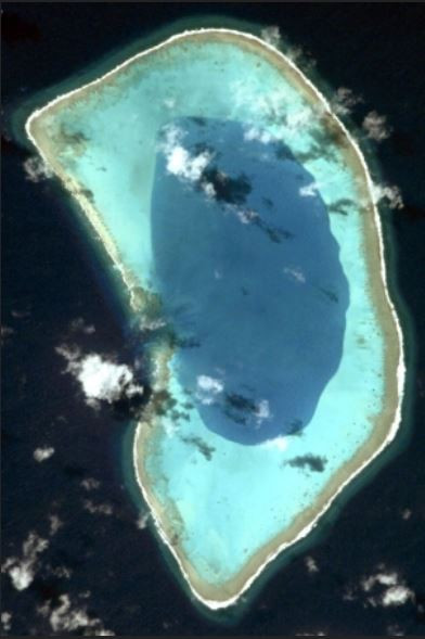 Satellite view Beveridge Reef