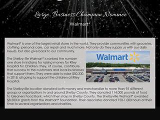 Large Business Champion Nominee: Walmart*