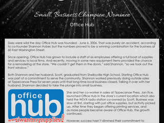 Small Business Champion Nominee: Office Hub